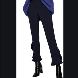 Zara Cropped Ruffle Pants